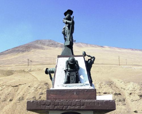 Imagen del monumento Al trabajador Pampino