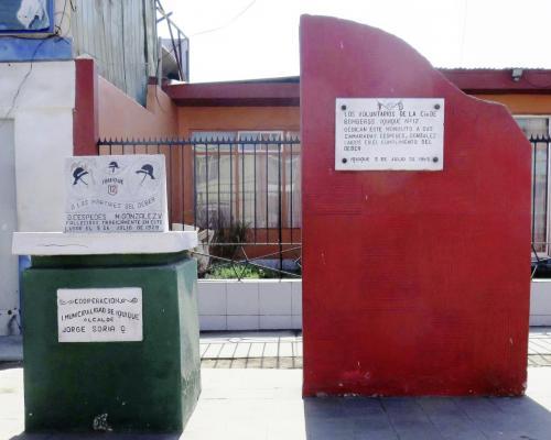 Imagen del monumento A Los Mártires Del Deber O. Céspedes y M. González