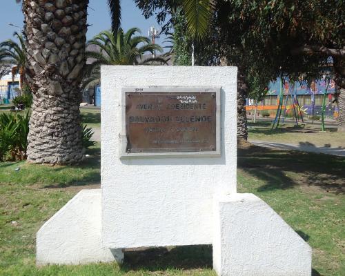 Imagen del monumento Salvador Allende Gossens
