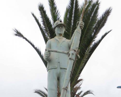 Imagen del monumento Minero Perforando