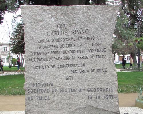 Imagen del monumento Carlos Spano