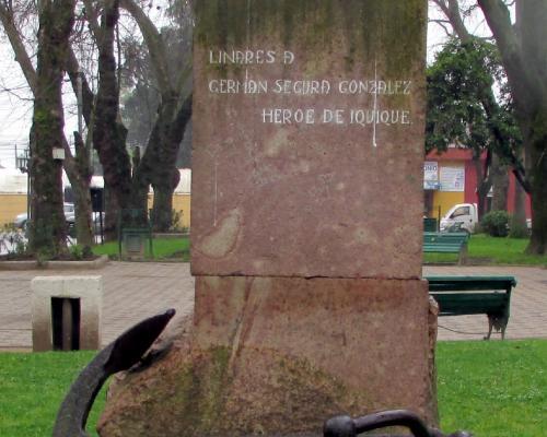 Imagen del monumento Germán Segura González