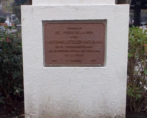 Imagen del monumento Cayetano Letelier Maturana