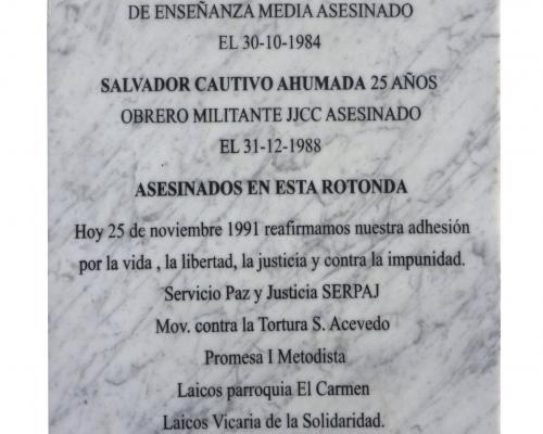 Imagen del monumento Salvador Cautivo Y Luis Contrera- Víctimas De La Dictadura