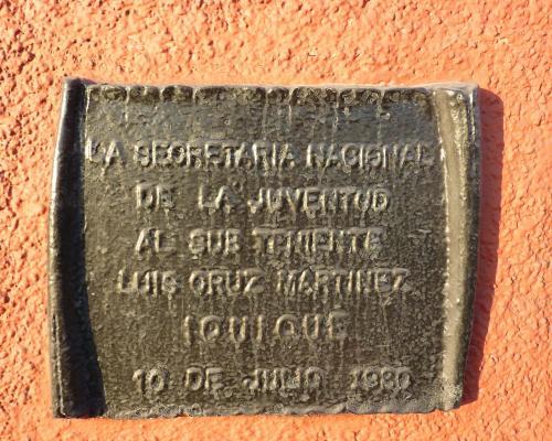 Imagen del monumento Subteniente Luis Cruz