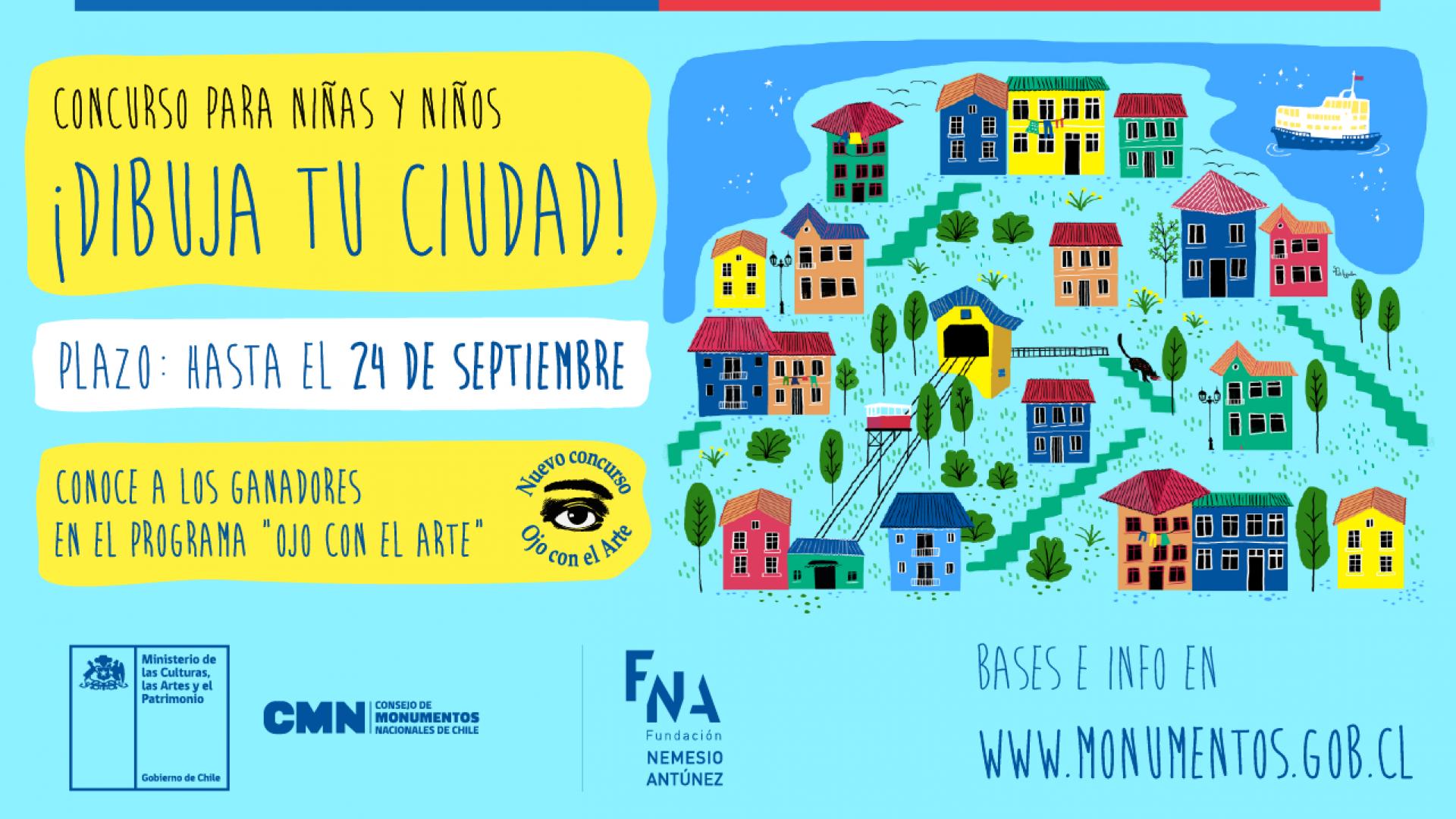 """Imagen de Bases del sorteo """"Dibuja tu ciudad"""" para el Programa """"Ojo con el Arte"""""""