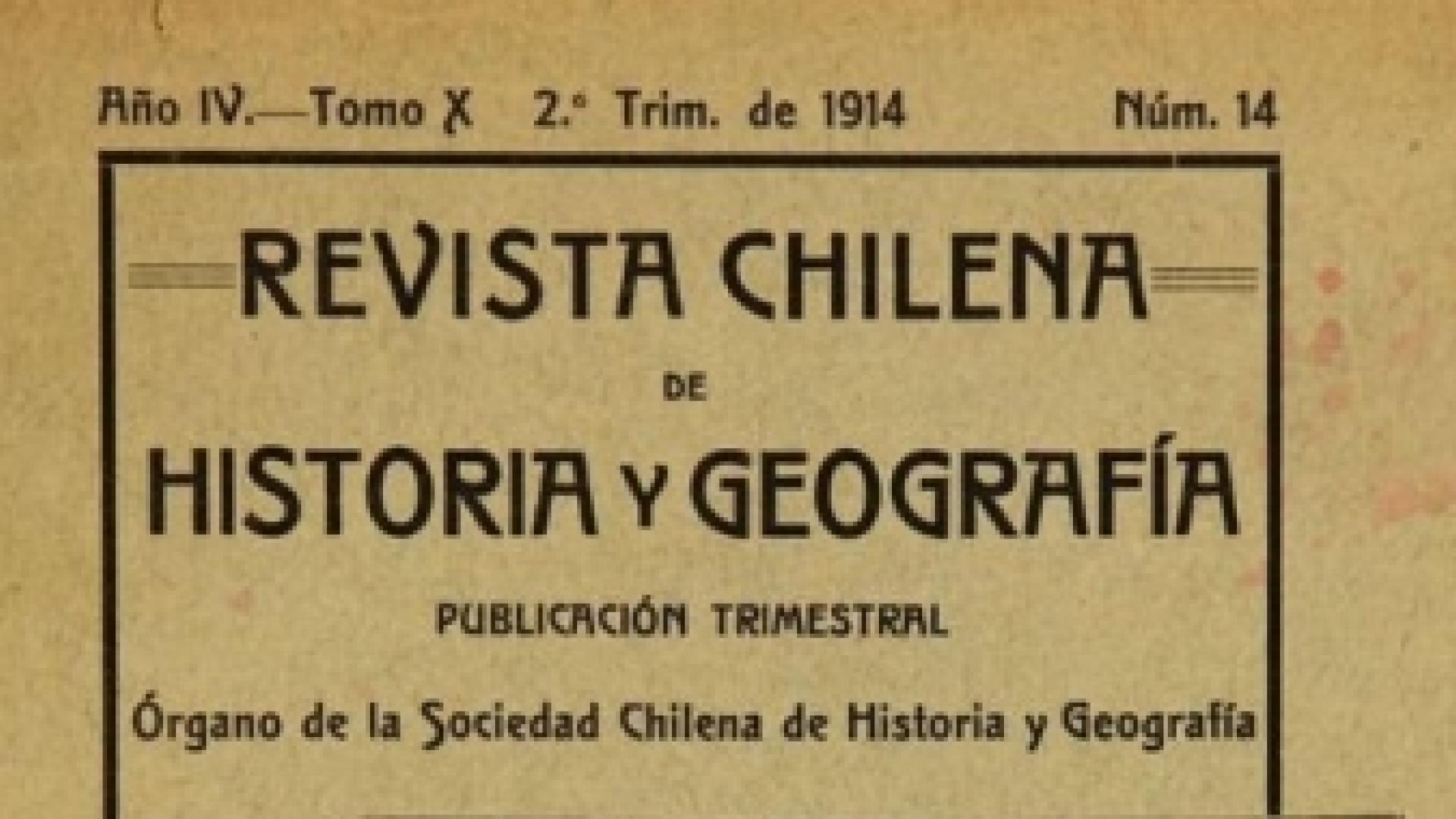 Imagen de Memoria Chilena digitaliza y pone a disposición pública la Revista Chilena de Historia y Geografía.