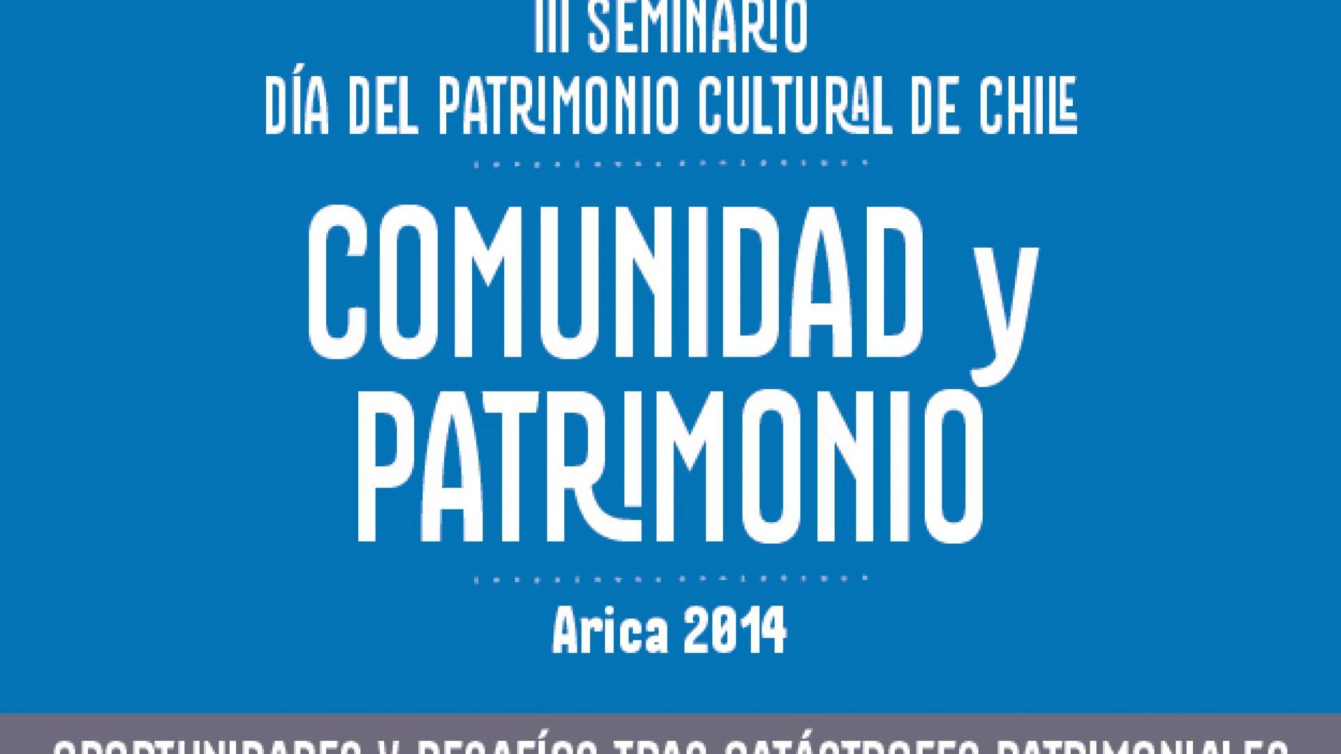 Imagen de III Seminario Día del Patrimonio Cultural