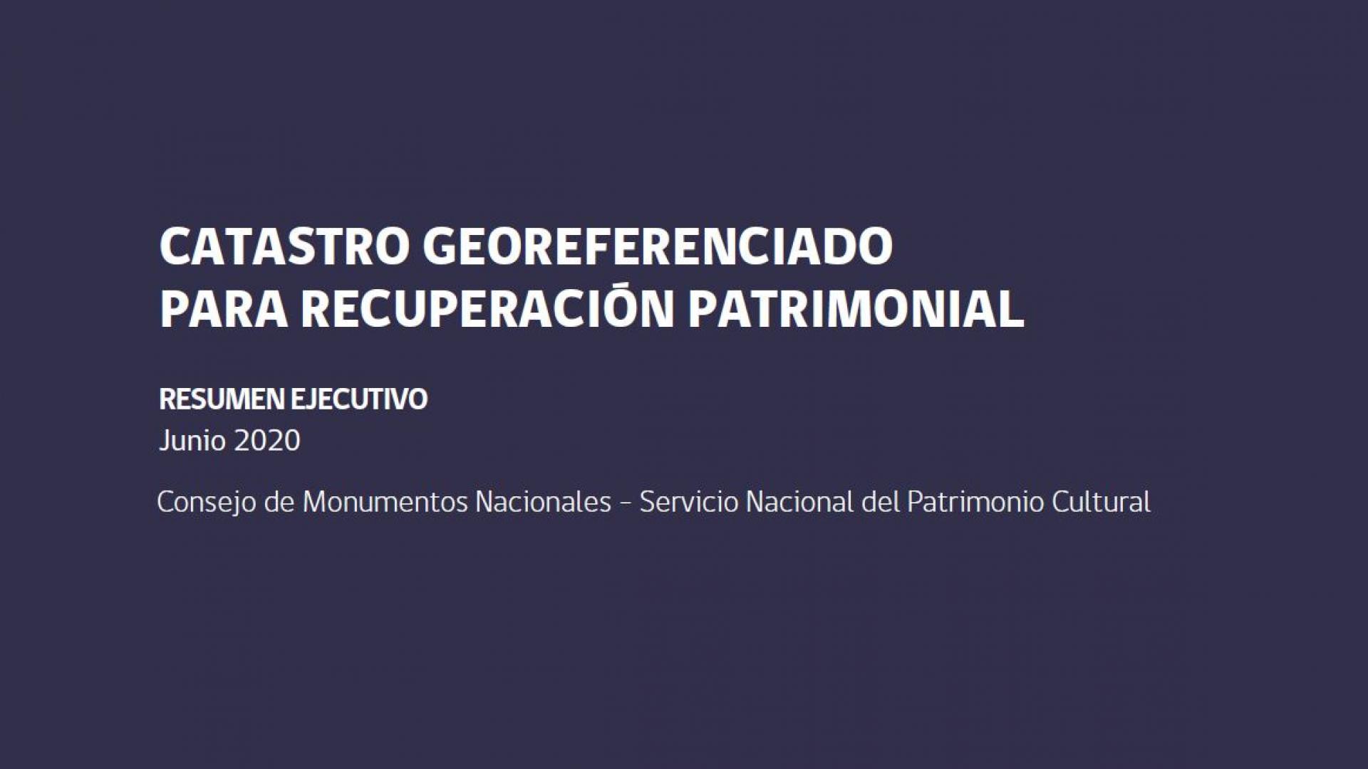 Imagen de CATASTRO GEOREFERENCIADO PARA RECUPERACIÓN PATRIMONIAL