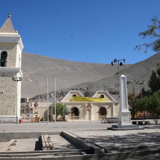 Imagen del monumento Iglesia y campanario del pueblo de Tarapacá