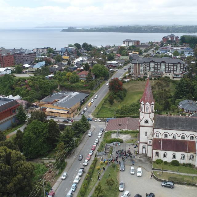 Imagen aerea del monumento Iglesia Parroquial del Sagrado Corazón