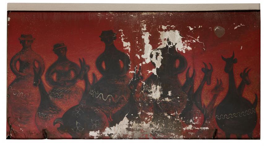 Imagen de Comenzaron los trabajos para recuperar murales de Nemesio Antúnez