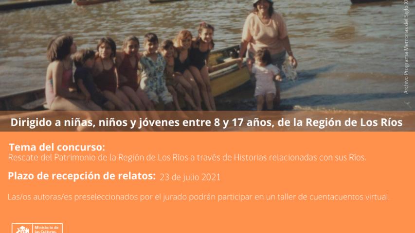 """Imagen de Concurso de Relatos 2021 """"Patrimonio Fluvial: Historias en Los Ríos"""""""