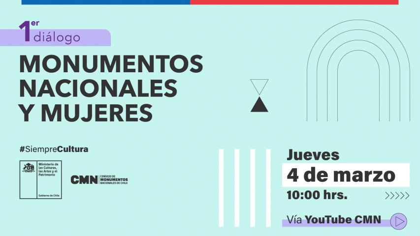 """Imagen de 1er diálogo """"Monumentos Nacionales y Mujeres"""""""