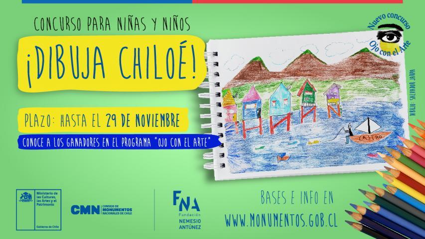 """Imagen de Bases del sorteo """"Chiloé: Arquitectura y ciudad"""" Programa """"Ojo con el Arte"""" 05 de diciembre de 2020"""