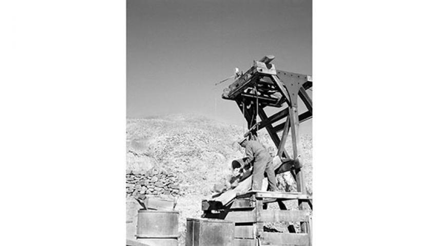 Extracción en mina San Pedro, 1947