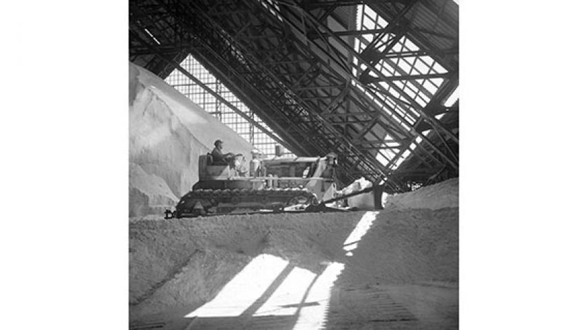 Bodega de acopio de salitre, c. 1950