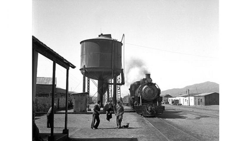 Estación de trenes de Potrerillos, 1947