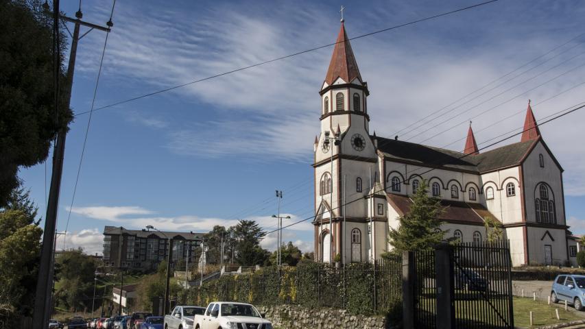 Imagen del monumento Sector que indica de la ciudad de Puerto Varas