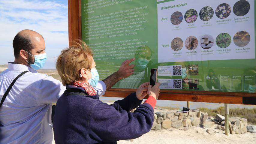 Imagen de Desde el Santuario de la Naturaleza Humedales de Tongoy Ministra de las Culturas anuncia medidas para la protección de estos Monumentos