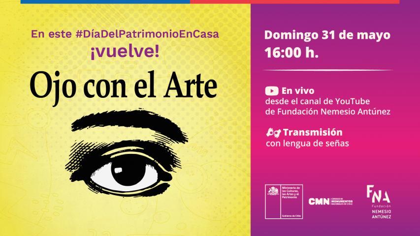 """Imagen de Consejo de Monumentos Nacionales y Fundación Nemesio  Antúnez invitan a recrear el programa televisivo """"Ojo con el Arte"""""""