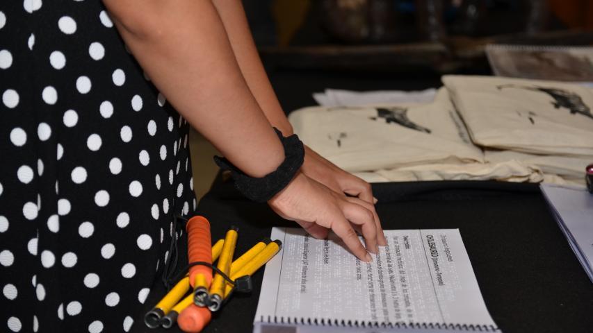 Imagen de En Día Mundial del Braille Ministra Valdés lanzó libro sobre fauna prehistórica para personas con discapacidad visual