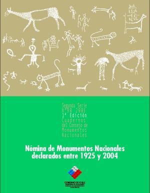 Imagen de CMN N° 90: Nómina de Monumentos Nacionales declarados entre 1925 y 2004