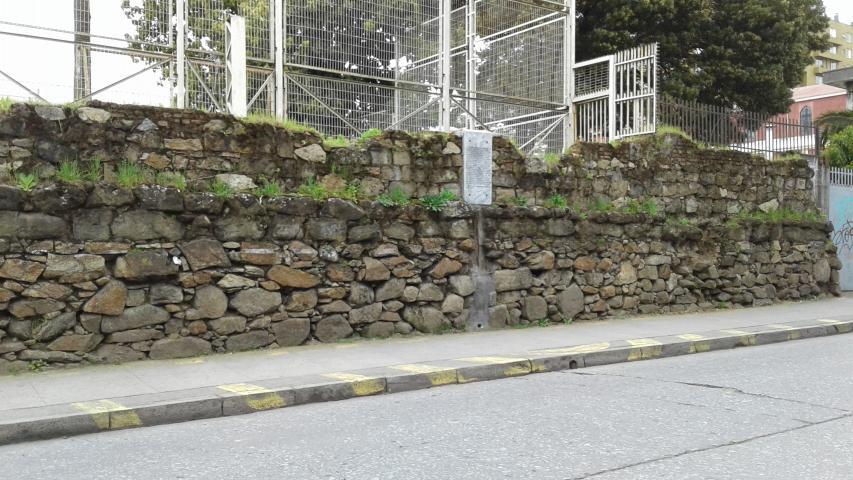 Imagen del monumento Restos del muro de piedra del convento de la Merced