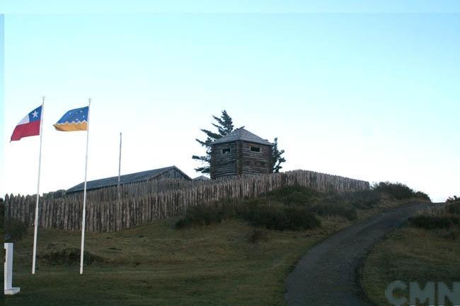 Imagen del monumento Fuerte Bulnes y toda la península denominada Punta Santa Ana