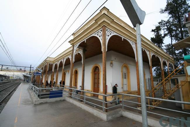 Imagen del monumento Edificio de la Estación de los ferrocarriles del Estado de la ciudad de San Bernardo