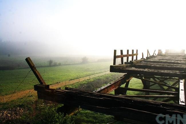 Imagen del monumento Puente viejo sobre el Río Itata