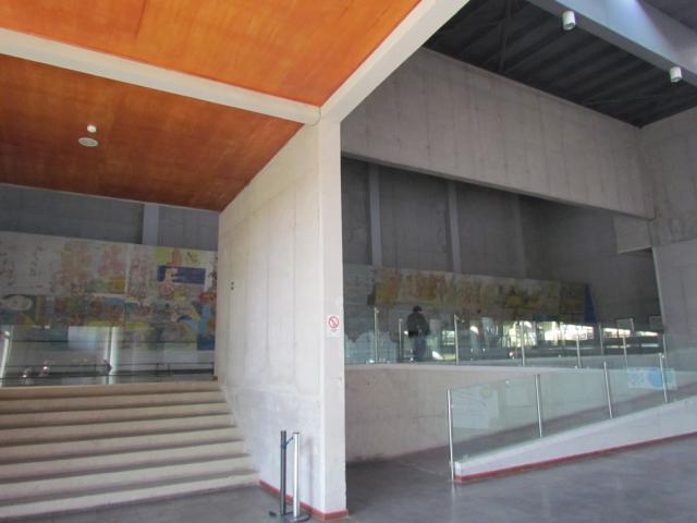 """Imagen del monumento Mural """"El Primer Gol del Pueblo Chileno"""" de Roberto Matta"""