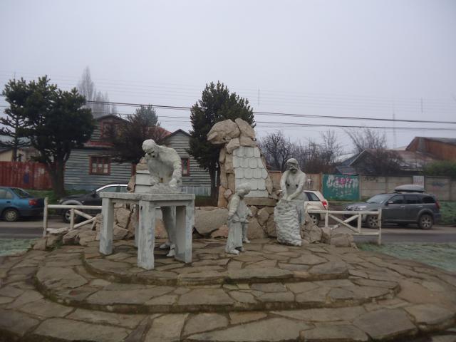 Imagen del monumento Al Pueblo Migrante Chilote