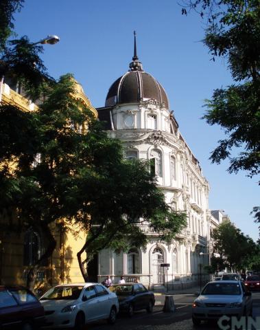 Imagen del monumento Sector que indica de los Barrios Yungay y Brasil de Santiago Poniente
