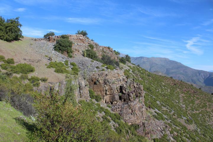 Imagen del monumento Raja de Manquehua - Poza Azul
