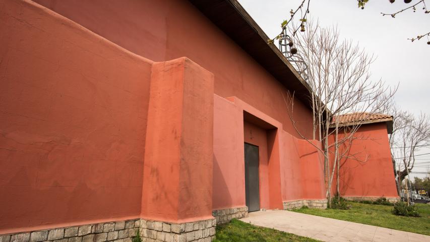 Imagen del monumento Torre, atrio y uno de los muros perimetrales de la Iglesia de la Inmaculada Concepción