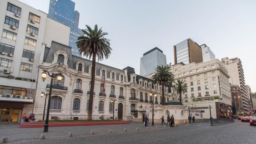 Imagen del monumento Conjunto de tres propiedades que dan a la plazoleta Patricio Mekis (casas de Josefina Subercaseaux, Francisco Subercaseaux y Julio Subercaseaux )
