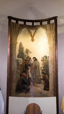 Imagen del monumento Mural pintado por Pedro Lira