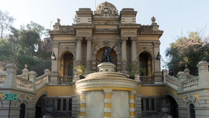 Imagen del monumento Cerro Santa Lucía de Santiago
