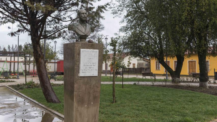 Imagen del monumento Radio urbano con sus límites actuales del Pueblo de Nirivilo