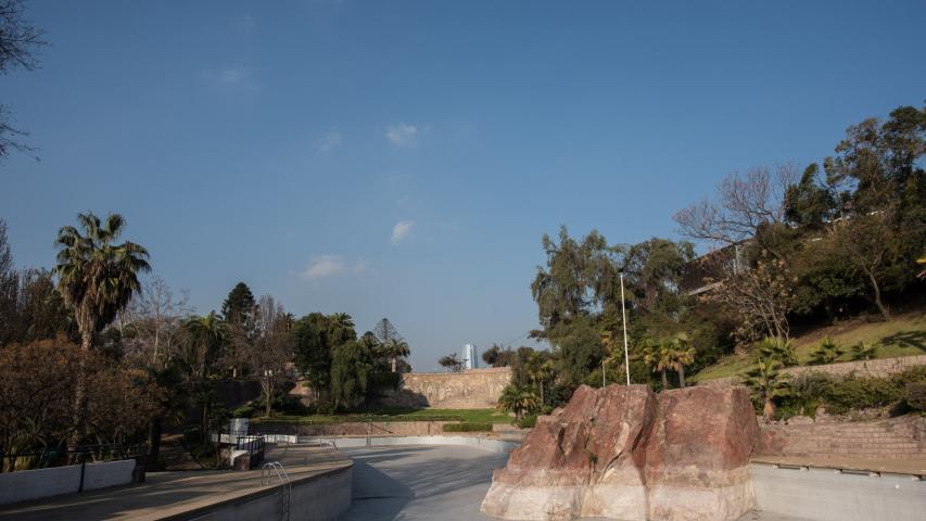 Imagen del monumento Entorno del Mural obra de María Martner y de Juan O´Gorman del Balneario Tupahue