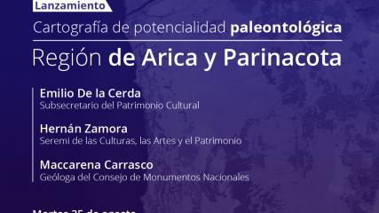 Imagen de Cartografía de potencialidad paleontológica de la Región de Arica y Parinacota