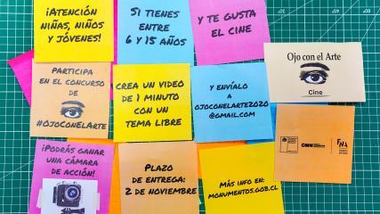 """Imagen de Bases del sorteo """"Cine"""" Programa """"Ojo con el Arte"""" 07 de noviembre de 2020"""