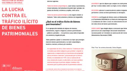 Imagen de Protección de Bienes Culturales en Chile. La Lucha contra el Tráfico Ilícito de Bienes Patrimoniales