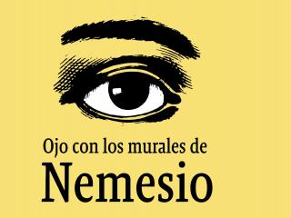 Imagen de Ojo con los murales de Nemesio