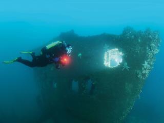 Imagen del monumento Patrimonio subacuático que indica: a) Sitios, estructuras, construcciones, artefactos y restos humanos en conjunto con su entorno arqueológico y natural.